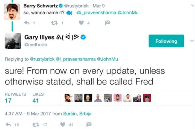 Gary Illyes on the Fred Update