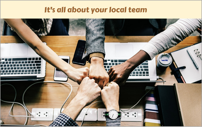 It's all about your local team for international digital marketing
